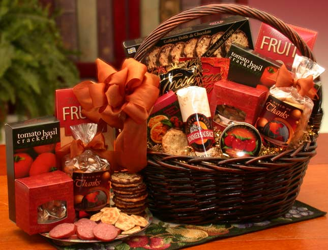 A Grand World Of Thanks Gourmet Gift Basket (Lg) - The Gift Basket ...